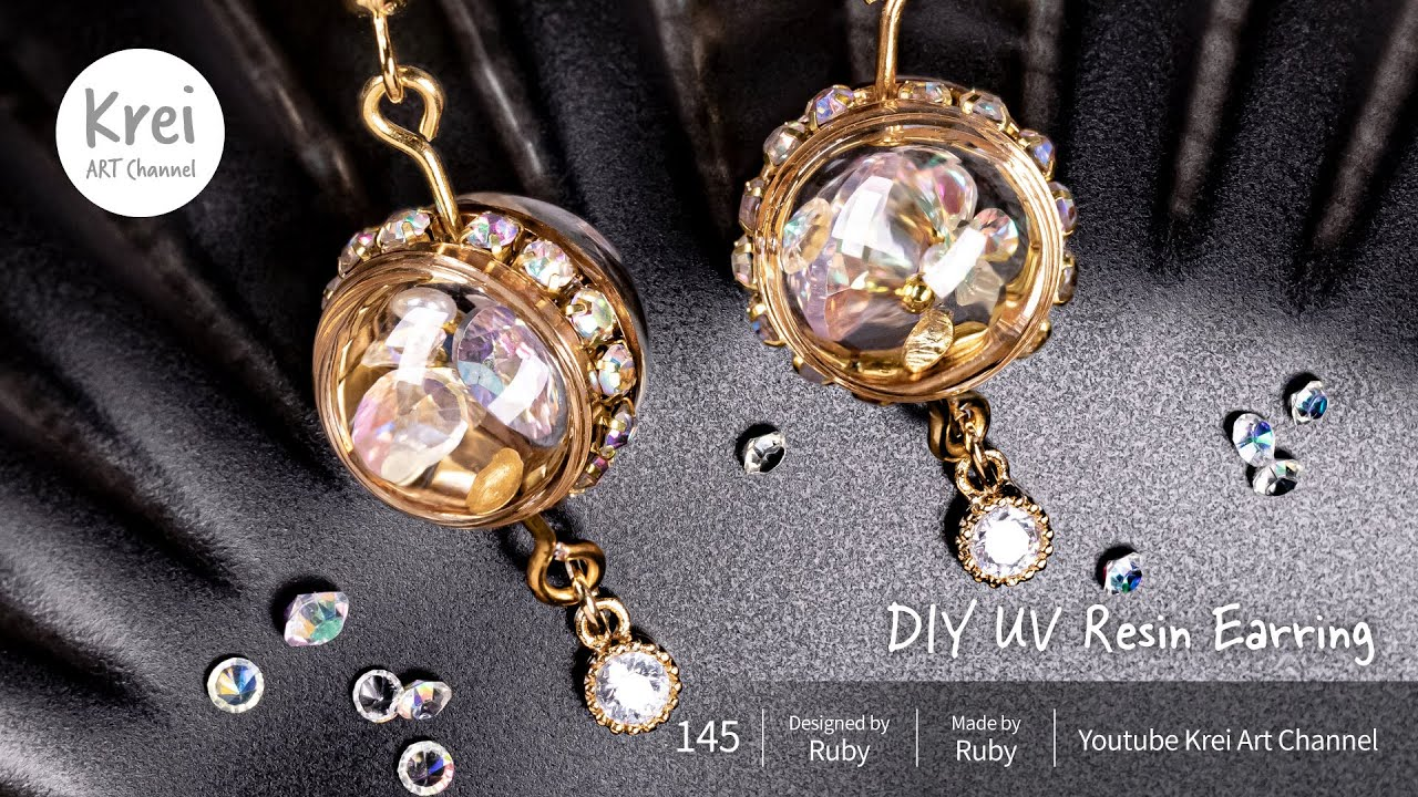 【UVレジン】DIY水晶球イヤリング DIY Crystal Ball Earring
