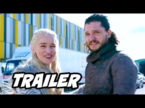 Game Of Thrones Season 8 Parody Trailer  Jon Snow Daenerys and Filming Update