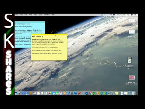 How To Use Sticky Notes Or Stickies On Mac Or MacBook