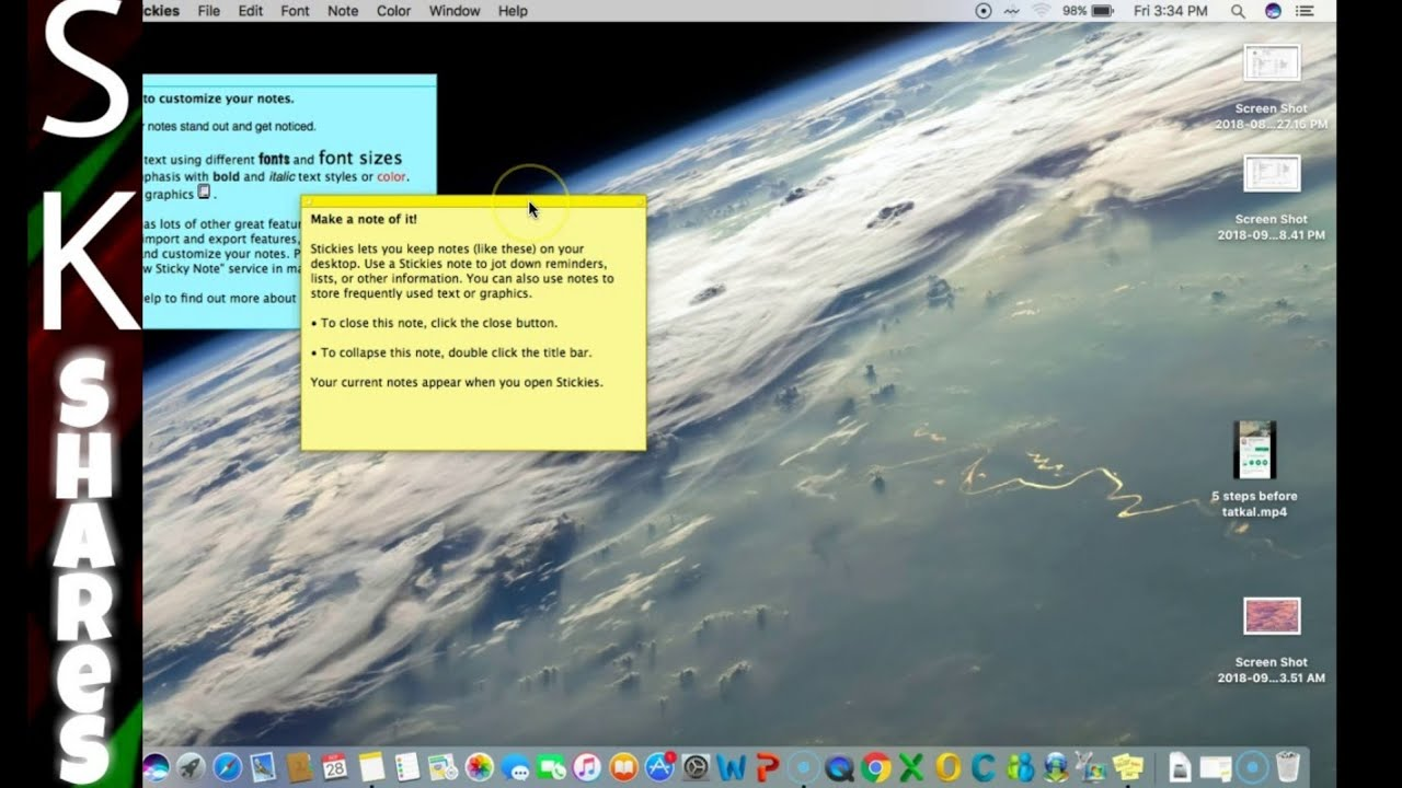Sticky notes for apple mac