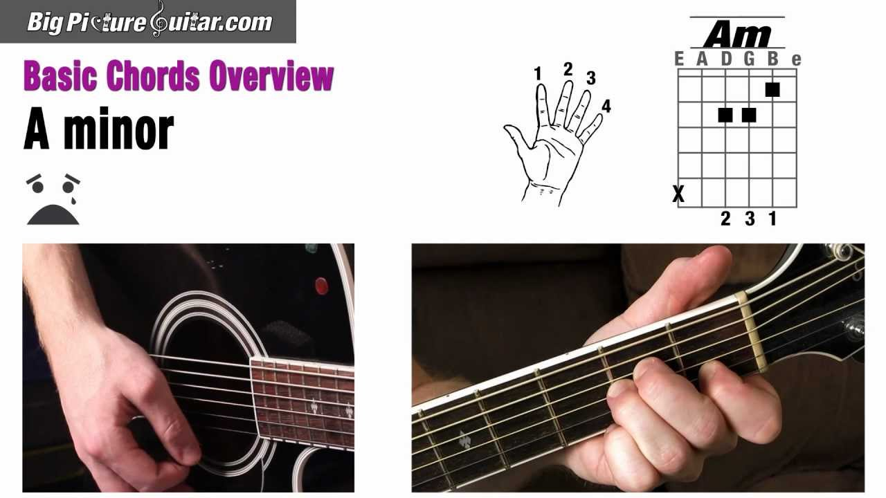 Basic Chords For Guitar An Overview Chords A A7 Am E Em E7 D