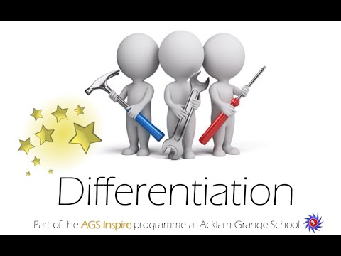 teaching differentetion 'differentiation is the process whereby teachers meet the need for progress through he curriculum by selecting appropriate teaching methods to match the individual student's learning strategies, within a group situation.