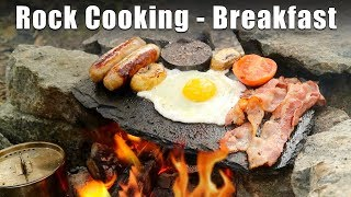 Cooking on a Rock - Bushcraft Breakfast
