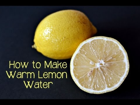 How to Make Warm Lemon Water