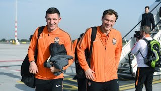 Shakhtar arrived in Rotterdam befofe the Champions League match vs Feyenoord