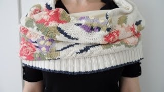Turn a Pullover into an endless Scarf - OWIMO Design Upcycling Thumbnail