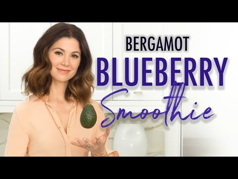 Bergamot Blueberry Smoothie - Quick, Easy and HEALTHY!