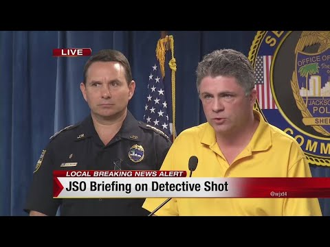 UNCUT: Sheriff Mike Williams, Chief Tom Hackney give details of officer, suspect shooting