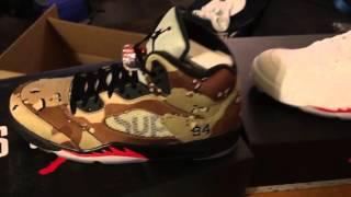 Supreme Air Jordan V 5 Sneakers Unboxing