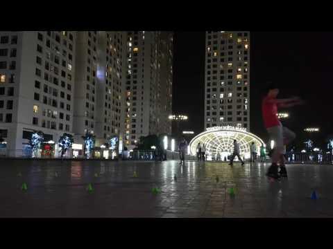 Training toe seven slalom trick - inline skate club