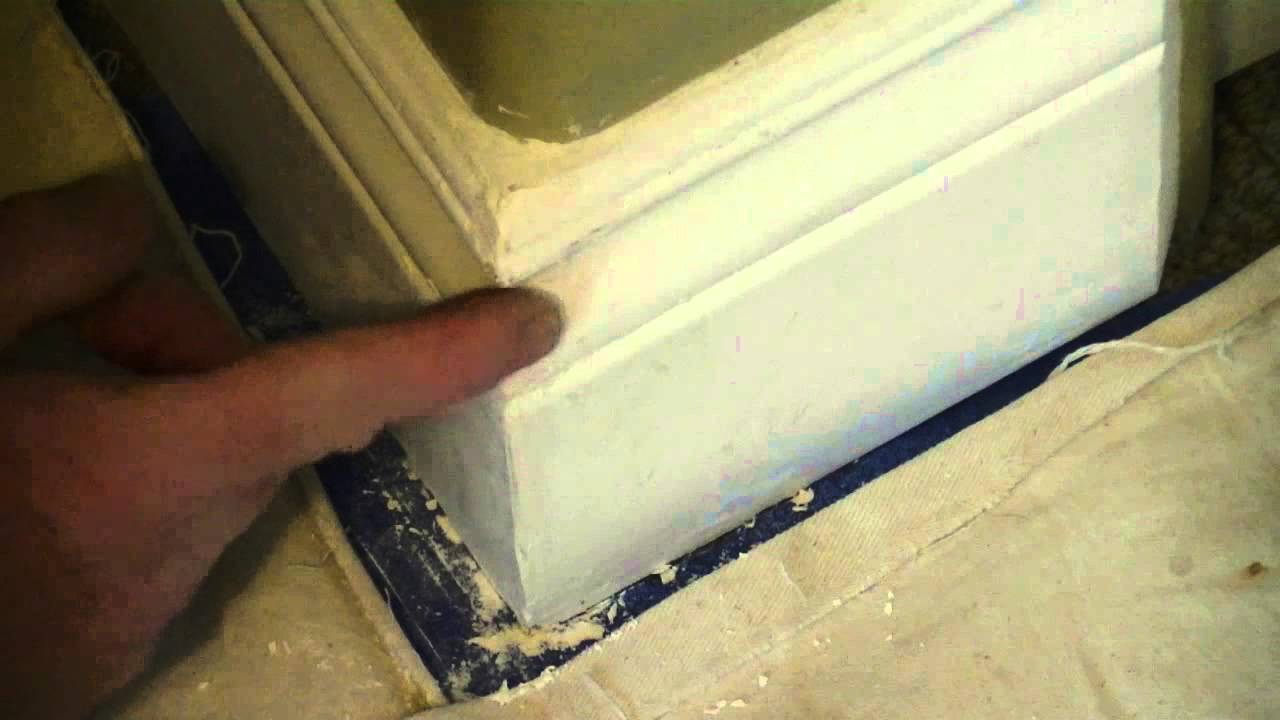 How To Fix A Chip In MDF Baseboard - YouTube