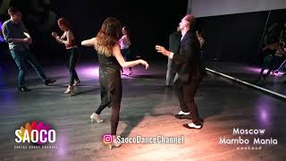 Aleksandr Frolov and Alexandra Kuznetsova Salsa Dancing at Moscow MamboMania weekend, Sun 28.10.2018