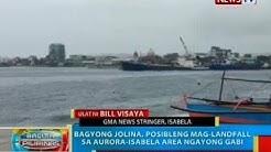 Bagyong Jolina, posibleng mag-landfall sa Aurora-Isabela area ngayong gabi