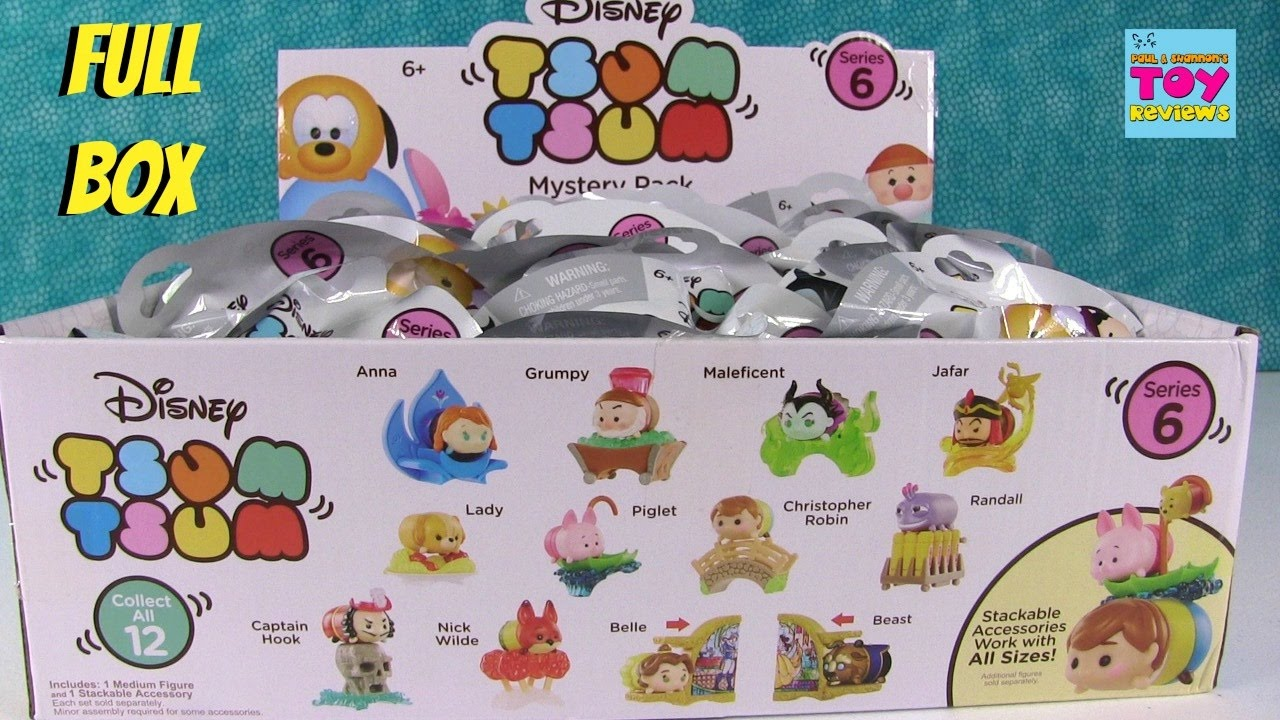 Disney Tsum Tsum Blind Mystery Bag Stack Pack Captain Hook Vinyl Series 6