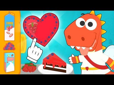 Aprende con Eddie a hacer una tarta de San Valentin 💘🍰 Eddie el dinosaurio celebra San Valentín