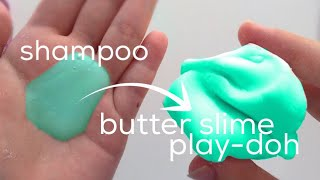 How to Make Butter Slime DIY NO GLUE NO BORAX NO CLAY