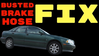 how to fix cut brake line and bleed video 2004 volvo s40