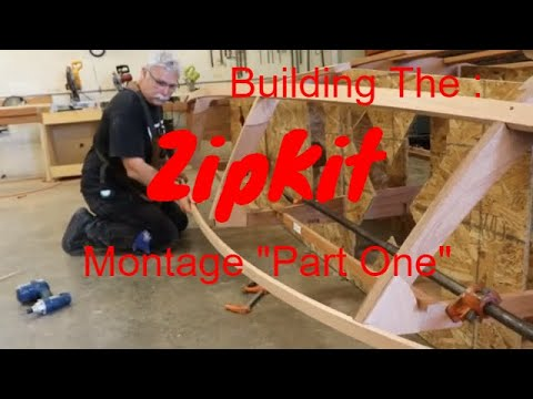 Building The Glen L ZipKit Part One  Montage DIY plywood boat kit, The Glen L Zip ready to assemble