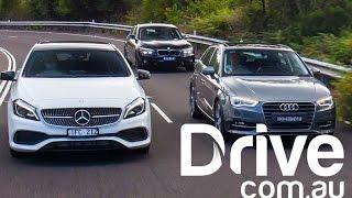 Audi A3 Sportback v BMW 1-Series v Mercedes-Benz A-Class Comparison | Drive.com.au