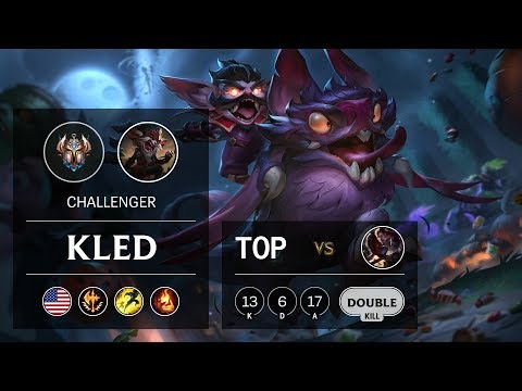 Kled Top vs Darius - NA Challenger Patch 9.21