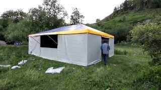 шатер-кухня 6х8 м., изготовление шатра для летнего лагеря