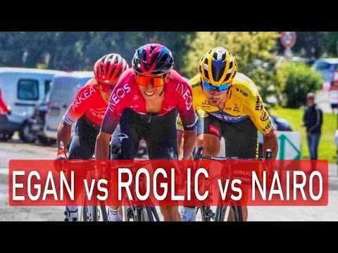 ÉPICO DUELO EGAN BERNAL VS PRIMOZ ROGLIC / Etapa 3 Tour de L'Ain 2020