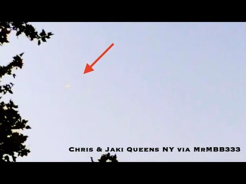 UFO over Queens  Strange glowing light captivates residents!