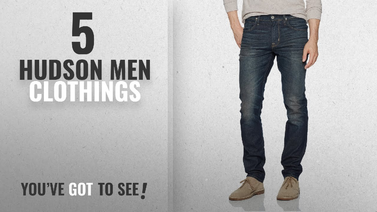 1a96b4a8652 Top 10 Hudson Men Clothings [ Winter 2018 ]: Hudson Jeans Men's Blake Slim  Straight Zip Fly Jeans,