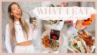 WHAT I EAT IN A DAY |  Healthy + easy vegetarian meal ideas! ✨