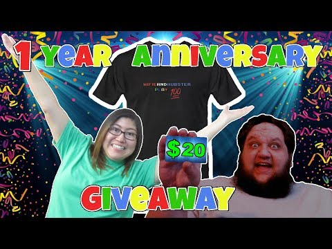 WifieandHubster ONE YEAR anniversary GIVEAWAY special!!! Join in LIVE for a chance to win!