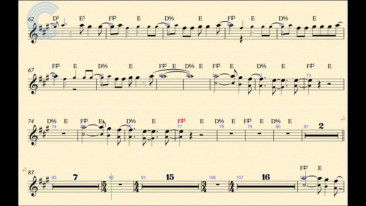 Alto Sax Dont Fear The Reaper Blue Oyster Cult Sheet Music