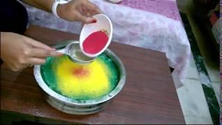 How to make Floating Rangoli