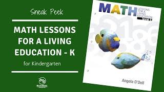 Sneak Peek - Math Lessons Level K // Master Books Homeschool Curriculum