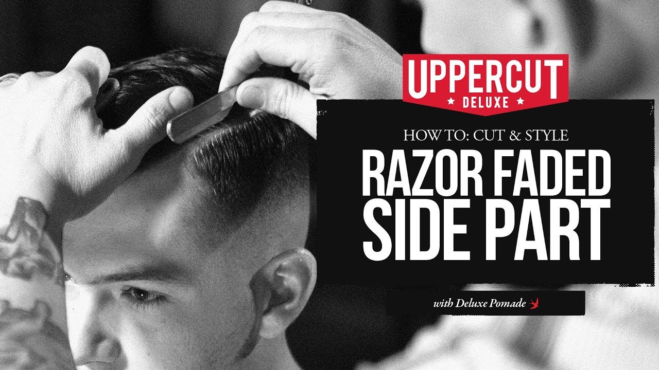 haircut tutorial: how to cut & style a razor faded side part x
