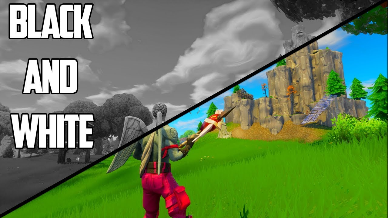 Black and white no colour challenge fortnite battle royale gameplay