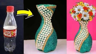 DIY Best Out Of Waste Idea for Flower Vase at Home || Inspiring Craft Ideas Using Plastic Bottles