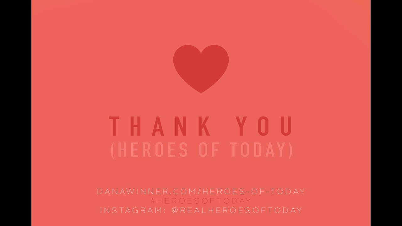 Dana Winner - Thank You (Heroes of Today) - Teaser