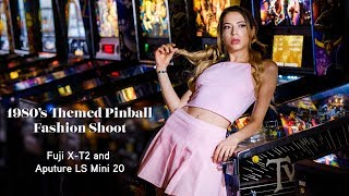 80's Themed Pinball Fashion shoot with Fuji X T2 & Aputure LS Mini 20