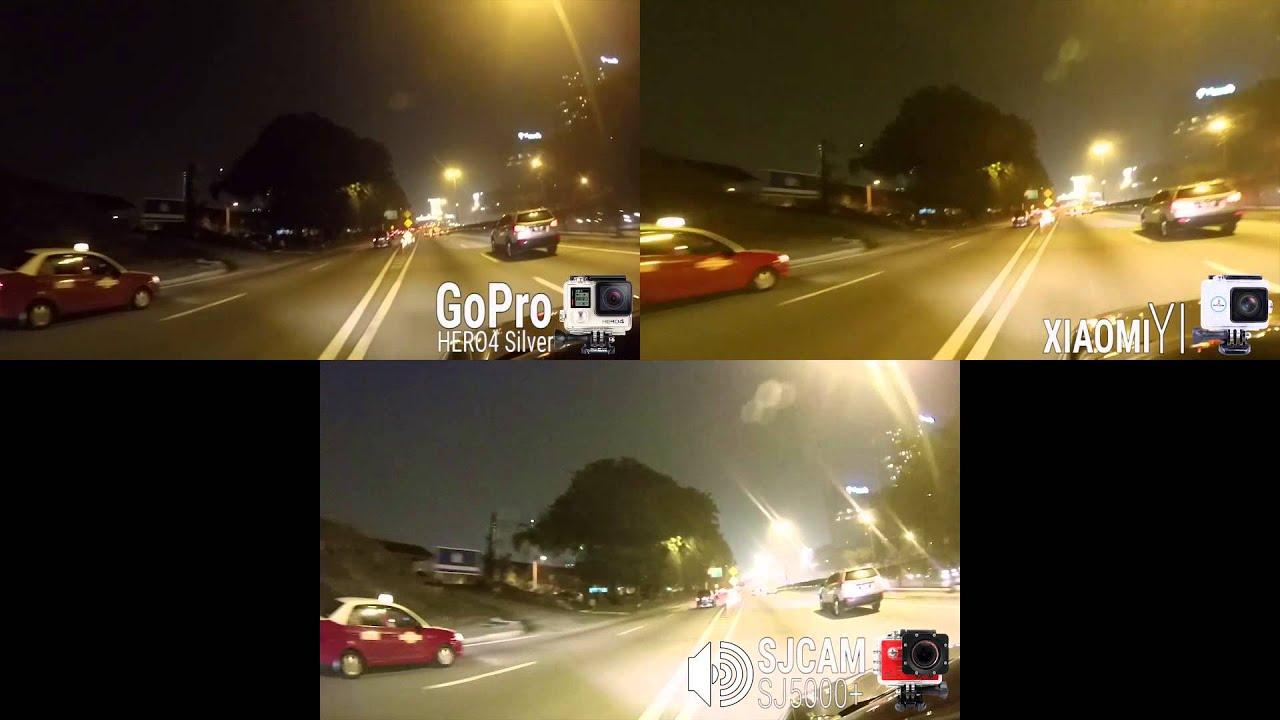 Xiaomi yi vs gopro hero action camera comparison cameralah com gopro - Comparison Gopro Hero4 Silver Vs Xiaomi Yi Vs Sjcam Sj5000plus Youtube