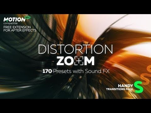 Distortion Zoom Transitions | After Effects Template | Elements