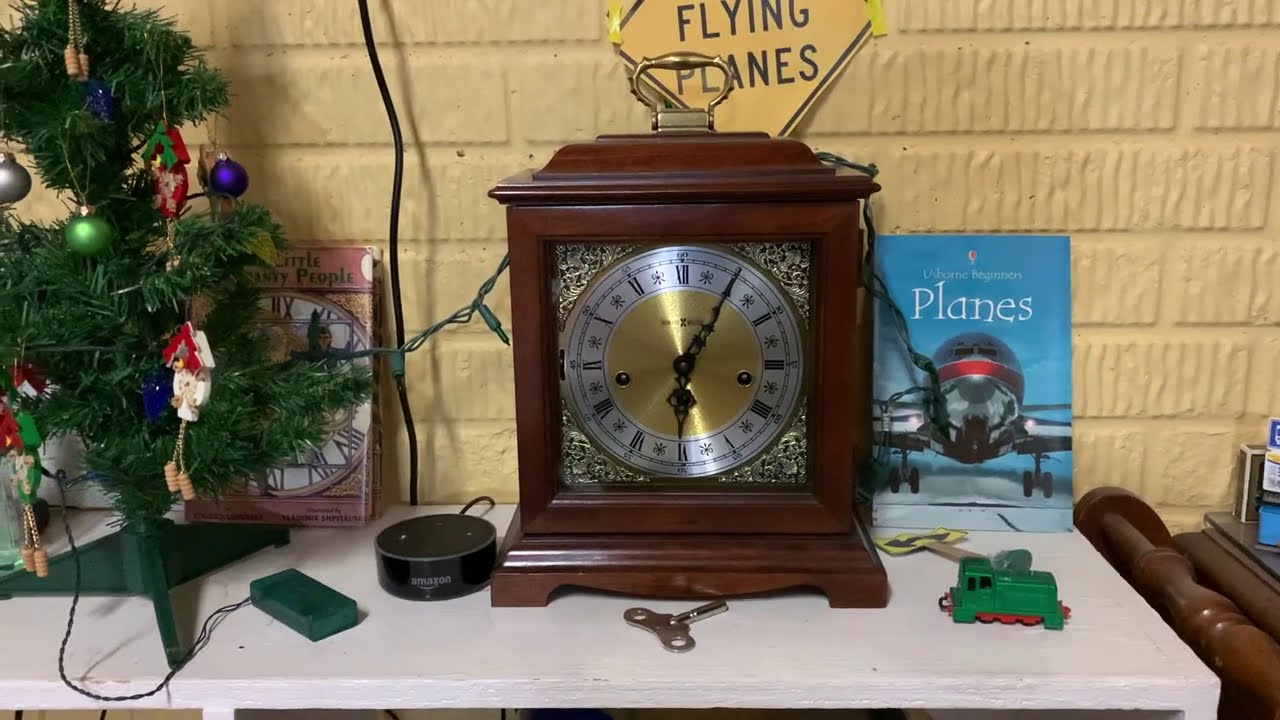 Winding the Howard Miller 612-437 Westminster Chime Bracket Mantle clock
