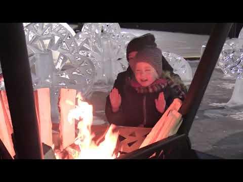 Ледяной лес и горки на площадке у Ельцин Центра
