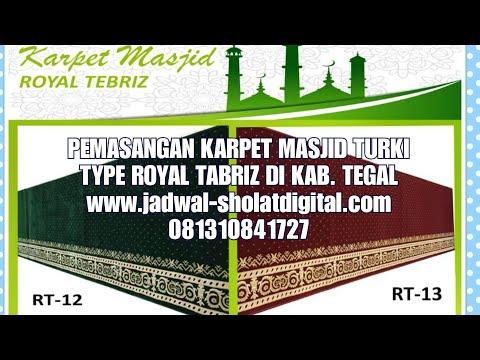 Pemasangan Karpet masjid turki Type Royal Tabriz Di Masjid Alhikmah Kaligayam Kec. Talang Kab. Tegal