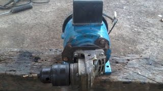 Modification of a former water pump  into the drill machines and multiple applications (part 1).