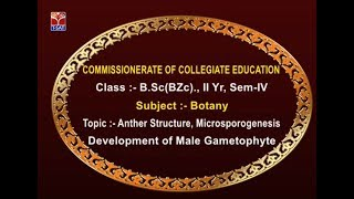 CCE || Botany - Microsporogenesis Development of Male Gametophyte || Live With  K.Usha Rani