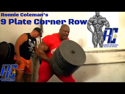 Ronnie Coleman 9 Plate Corner Row | Intense Back and Biceps Workout