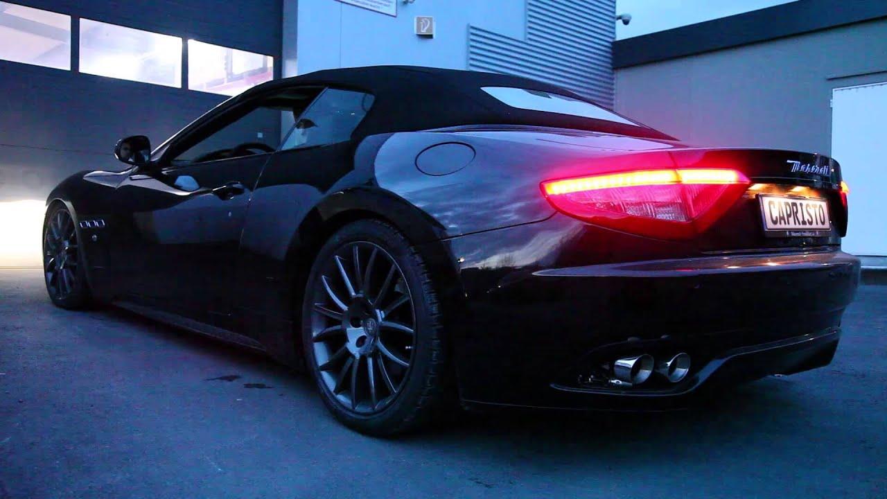 Maserati GranCabrio 2011 w. Capristo Exhaust and Xpipe - YouTube