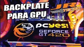 Backplate caseira com led para GPU ou placa de video