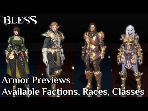 BLESS KR | Available Factions, Races and Classes | Armor Previews