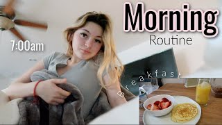 my REAL morning routine | online school*